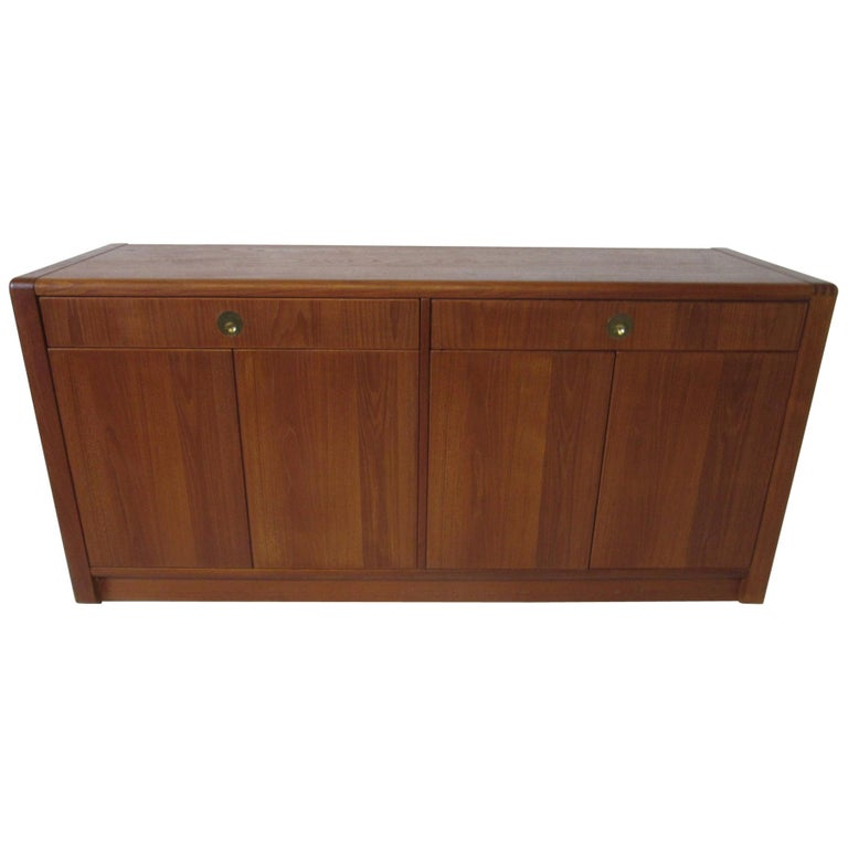 Teak Wood Server / Chest / Credenza in the Danish Style by D- Scan For Sale