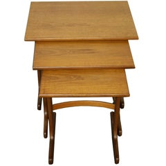 Teak Wooden Fresco Nesting Tables by G Plan 1950s