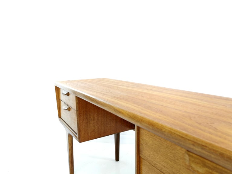 British Teak Writing Desk Midcentury Vintage, 1960s-1970s For Sale