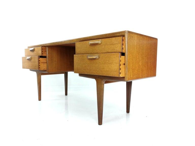 Mid-20th Century Teak Writing Desk Midcentury Vintage, 1960s-1970s For Sale