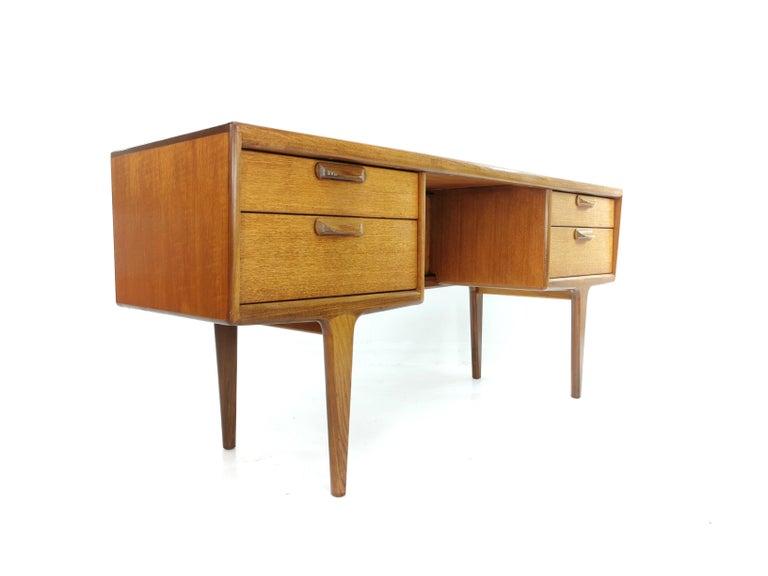 Teak Writing Desk Midcentury Vintage, 1960s-1970s For Sale 2