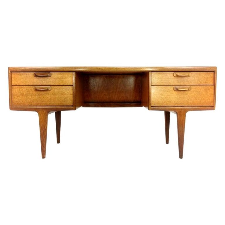 Teak Writing Desk Midcentury Vintage, 1960s-1970s For Sale