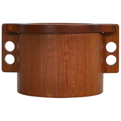 "Teakwood Ice Bucket by Birgit Krogh for ""Woodline"", Denmark in the 1970s"