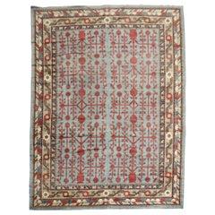 Teal Antique Room-Size Khotan Rug