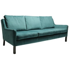 Teal Green Danish Sofa