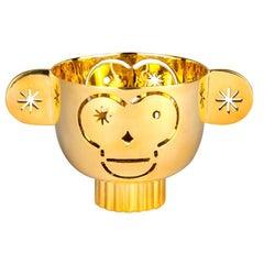 Tealight Holder Monkos in Shiny Brass by Jaime Hayon