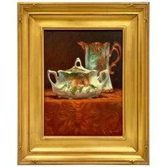 Teapot and Tureen Oil Painting Original Katherine Simmons Oil Still Life
