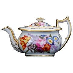 Teapot, Creamer, Sugar Nantgarw Porcelain, circa 1815