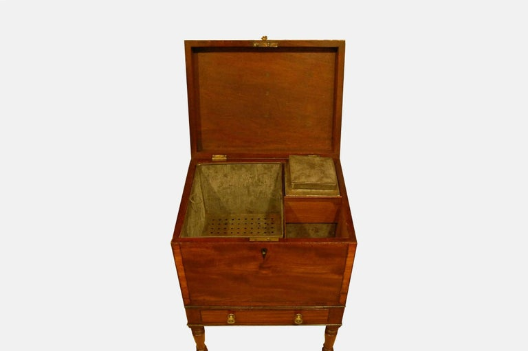 19th Century Teapoy/Decanter Box on Stand For Sale
