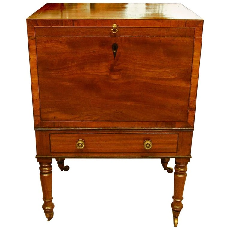 Teapoy/Decanter Box on Stand For Sale