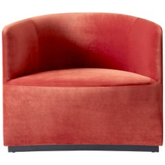 Tearoom Lounge Chair, City Velvet, CA7832/062 'Red' Red 1-Seat Sofa Chair