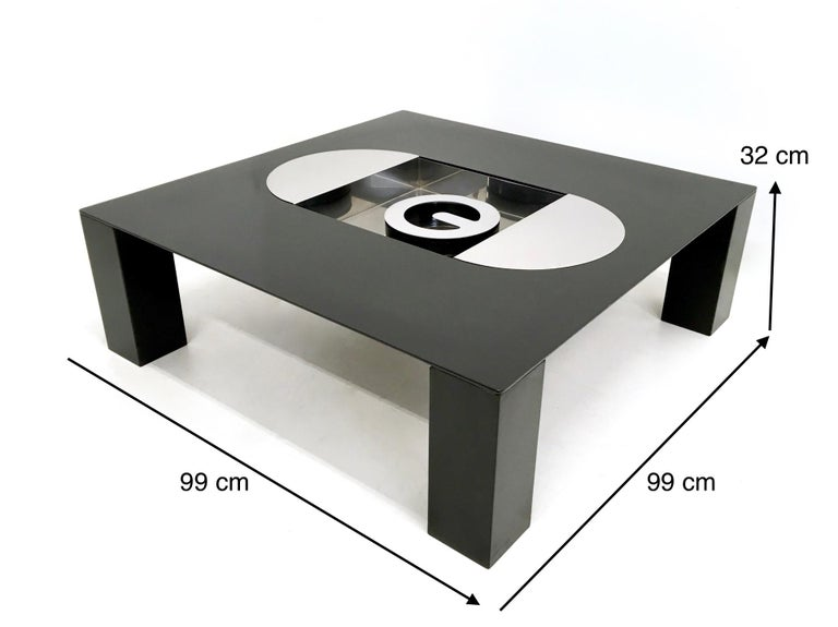 Tebe Coffee Table with Ashray by Giovanni Offredi Produced by Saporiti, 1970s For Sale 2