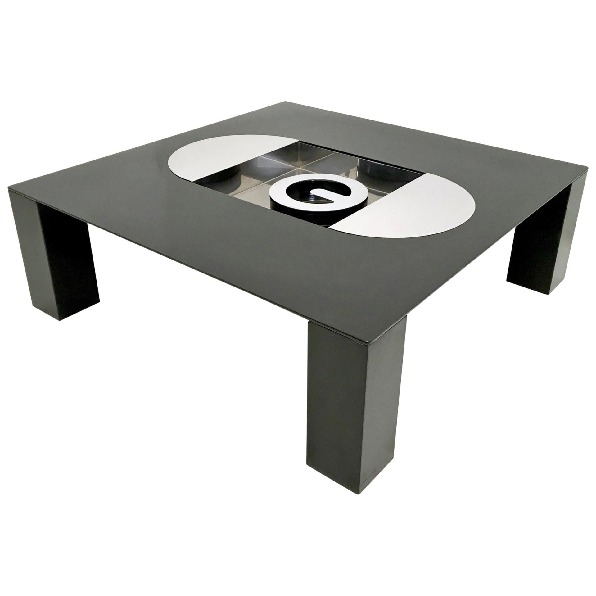 Tebe Coffee Table with Ashray by Giovanni Offredi Produced by Saporiti, 1970s