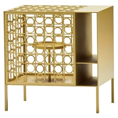 Teca Small Golden Cabinet