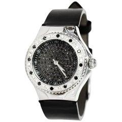 TechnoMarine Black Stainless Steel/Diamond 29mm Technolady Watch
