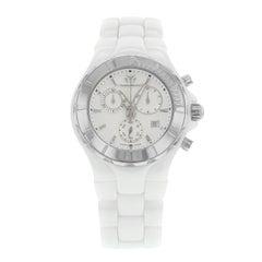 Technomarine Cruise Silver Dial White Ceramic Steel Quartz Unisex Watch 110030C