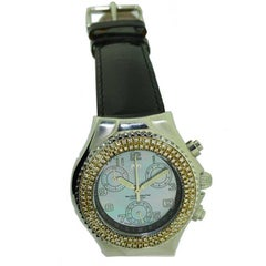 TechnoMarine Steel Chronograph with Mother-of-Pearl Dial