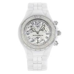 Technomarine TechnoDiamond White Ceramic Diamonds Quartz Ladies Watch DTC55C