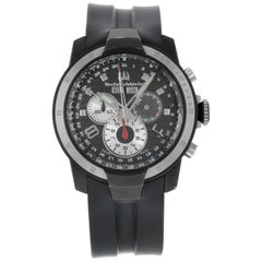 Technomarine UF6 Chronograph Black Dial Rubber Band Steel Quartz Men's Watch