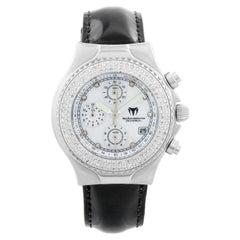 Techomarine Technodiamond Ladies Watch, Quartz, Chronograph, Stainless Steel