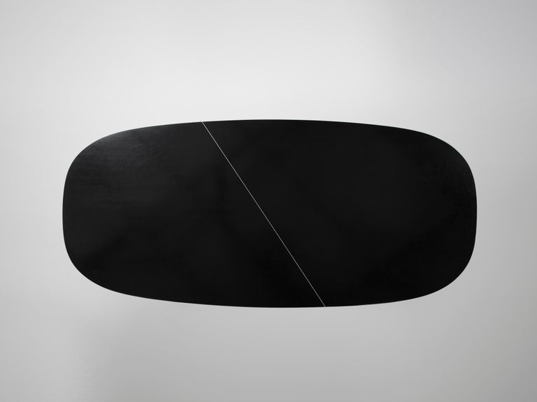 Tecno Large Black Conference Table In Good Condition For Sale In Waalwijk, NL