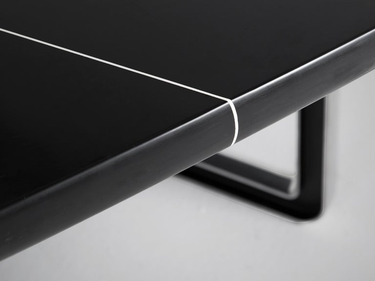 Metal Tecno Large Black Conference Table For Sale