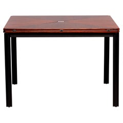 Tecno of Italy Rosewood Table with Fold Up Leaves