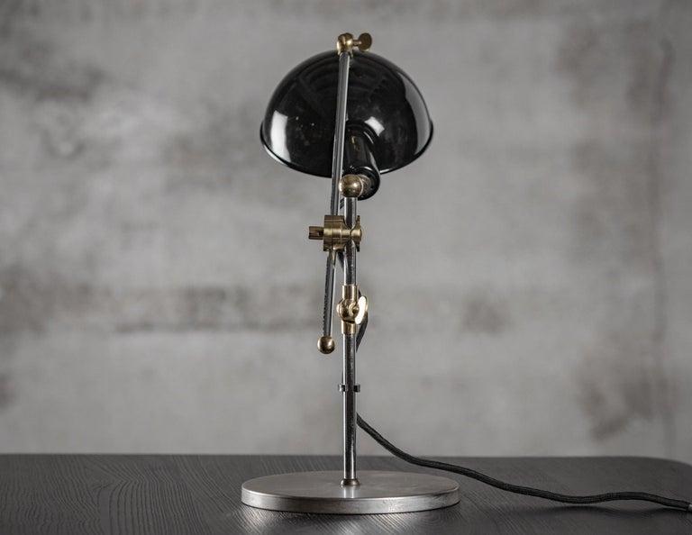Germany: Walter Schnepel; Tecnolumen adjustable desk lamp, Model SF27, circa 1990  This lamp was originally designed in Sweden in 1927, but the designer is unknown. It was brought to Germany by Walter Schnepel.