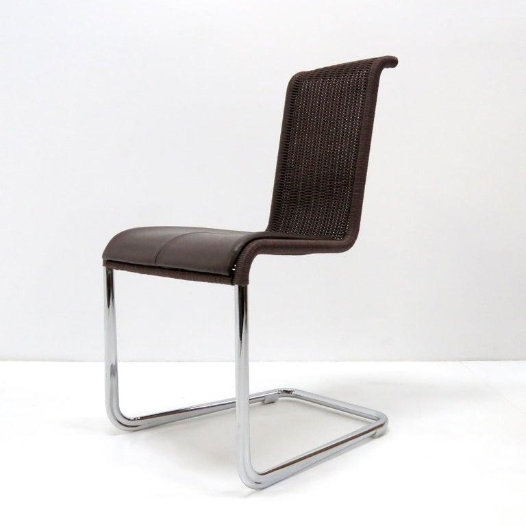 German Tecta B45 High Back Chairs, 1981 For Sale