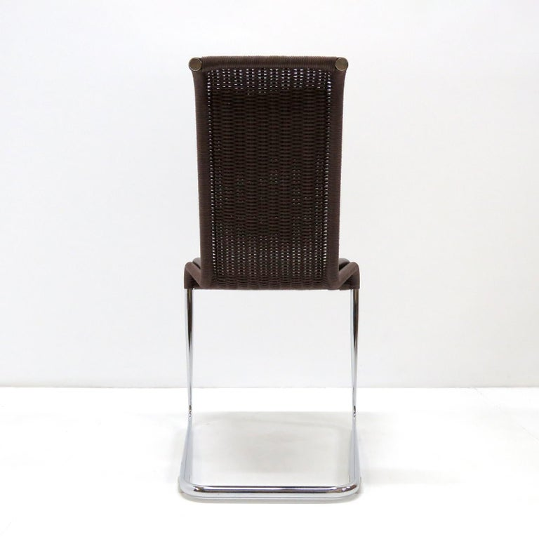 Stainless Steel Tecta B45 High Back Chairs, 1981 For Sale