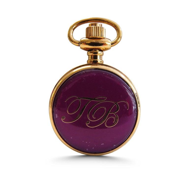 Ted Baker  Pocket or chain hanging watch  Japan movement quartz  18k rose gold plated  31 mm Diameter
