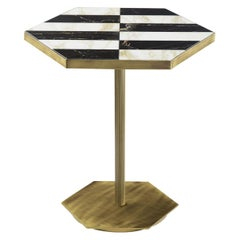 Ted Black and White Side Table
