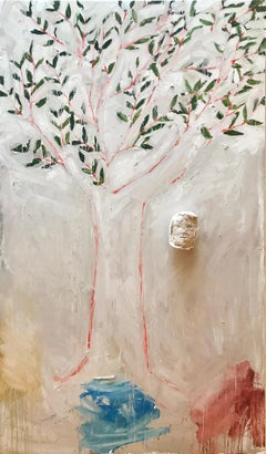 Tree (3 Graces), Ted Fullerton, Oil on Wood Panel with Plaster