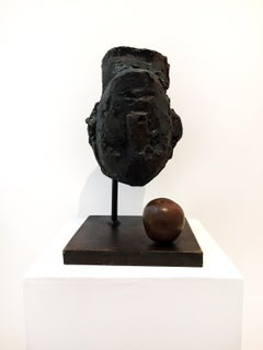 Newton's Theory, Ted Fullerton, Cast Resin, Bronze Powder, and Steel