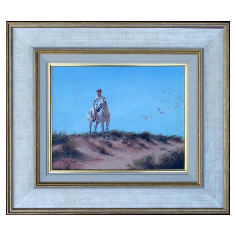 Ted Jones Dublin Ireland Irish Oil Painting on Canvas Gentleman on Horseback For Sale