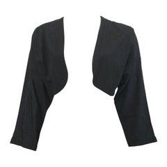 Ted Lapidus 1980s Black Cropped Bolero Jacket Size 8 / 10.