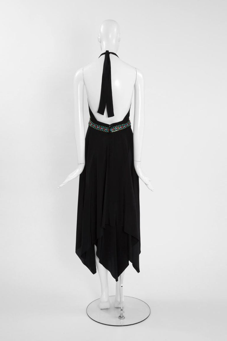Ted Lapidus Couture Halterneck Midi Dress For Sale 2