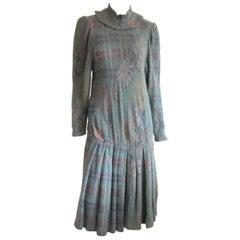 Ted Lapidus Dress Boutique Haute Couture Paris Vintage -36 1980s XS-S