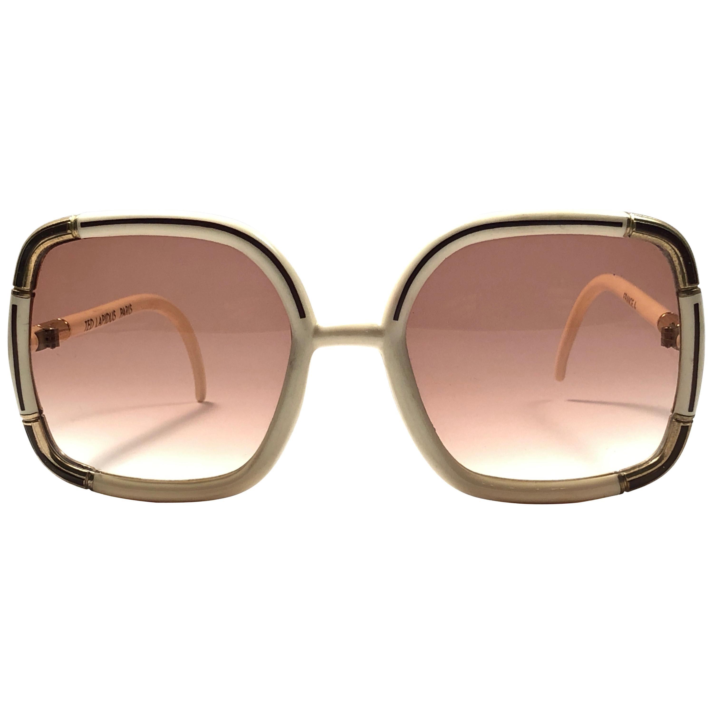 Ted Lapidus Paris Vintage Beige and Gold Sunglasses, 1970