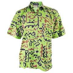 Ted Lapidus Vintage 1980s Mens Short Sleeve Shirt