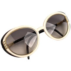 Ted Lapidus Vintage Black and White Sunglasses 55-16 130mm