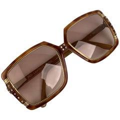 Ted Lapidus Vintage TL 1502 Sunglasses Crystals 58-14 130mm