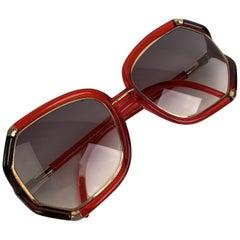 Ted Lapiudus Vintage Red Black Sunglasses TL10 56-16 135mm