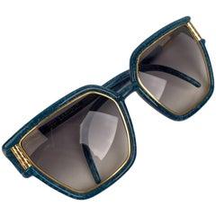 Ted Lapiudus Vintage Turquoise Sunglasses TL1206 54-12 130mm