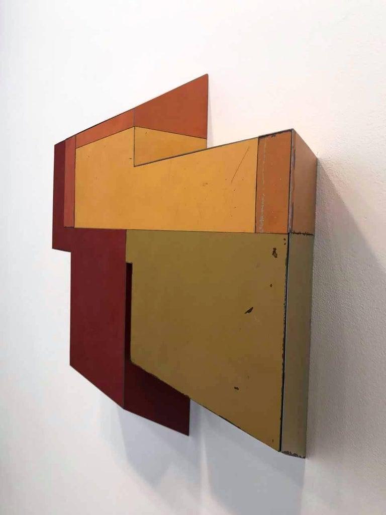 Random Logic  - Abstract Geometric Mixed Media Art by Ted Larsen