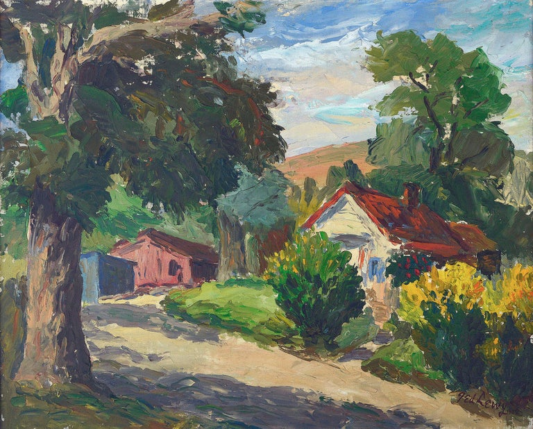 Novato Afternoon Country Landscape - Painting by Ted Lewy