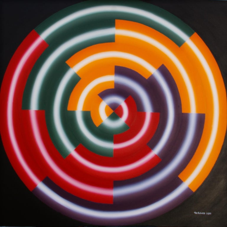 Ted Richards Abstract Painting - Earthquake, Painting, Acrylic on Canvas