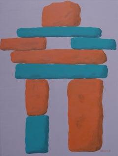Inukshuk, Painting, Acrylic on Canvas
