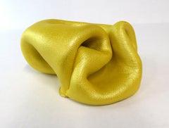 Sinuosity mini in lemon yellow (curvy, small sculpture, biomorphic, table-top)