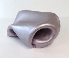 Sinuosity petite in lavender (curvy, sculpture, biomorphic, pastel art)